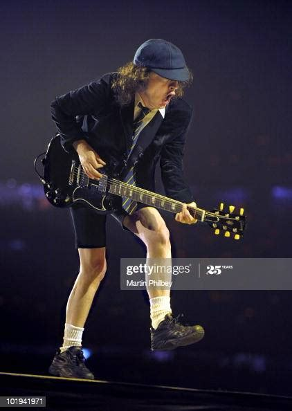 Angus Young of AC/DC performs on stage at Docklands