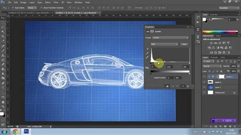 How to create a Blueprint effect in Photoshop CS6 - YouTube