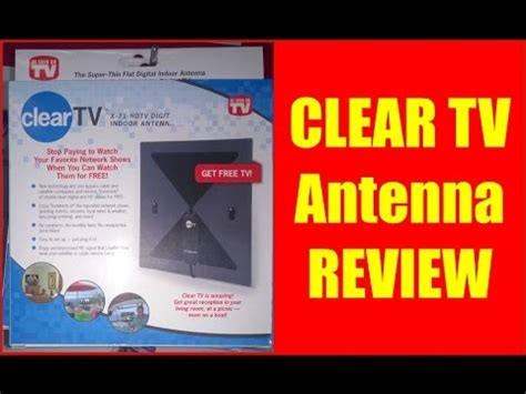 Clear TV Antenna Review - YouTube