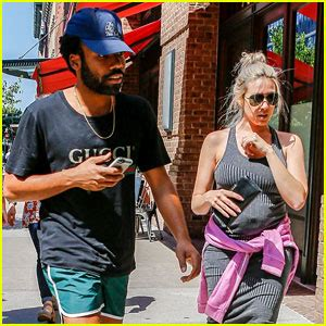 Donald Glover Steps Out in Short Shorts with Partner