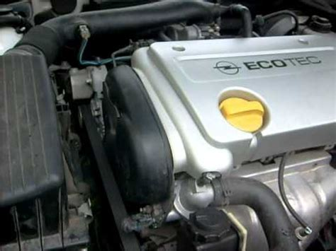 Z16XE vectra B initial start up after cambelt change - YouTube