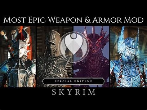 MOST LEGENDARY WEAPON AND ARMOR MOD   Skyrim SE Ultra ENB