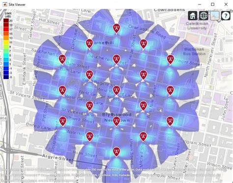 SINR Map for a 5G Urban Macro-Cell Test Environment