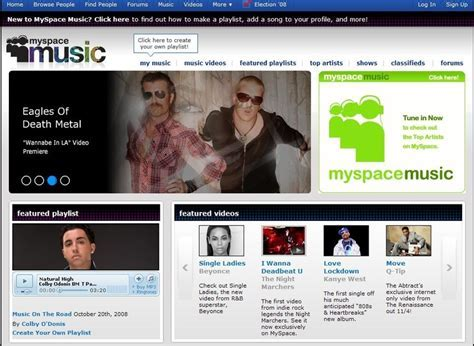 Myspace music, discover, listen, share and connect to