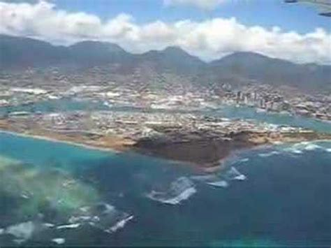 FLYING OVER OAHU in HAWAII - BEAUTIFUL SCENERY OF THE