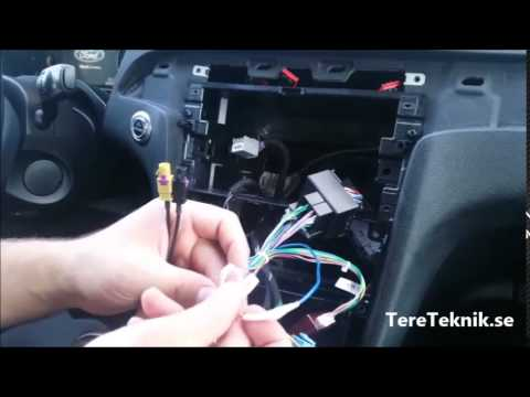 Car ISO F Harness Radio Adapter For Ford Focus Fiesta