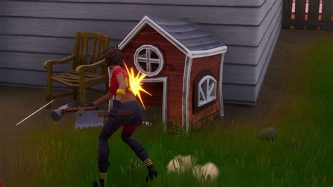 Fortnite Meowscles Mischief: Dog houses locations - Millenium