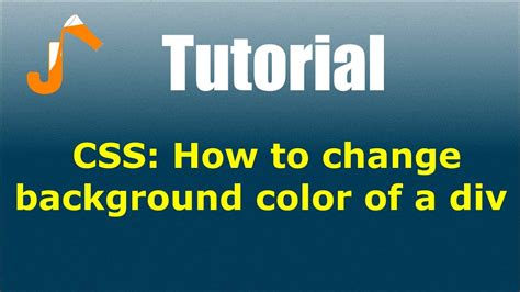 CSS: How to change background color of a div - YouTube