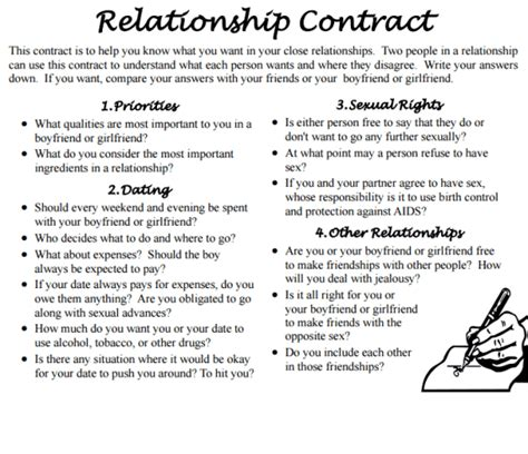 6+ Relationship Contract Templates - Word Excel Templates