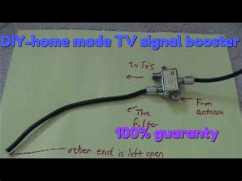 Easy Builds- DIY-home made cable TV signal booster (100%