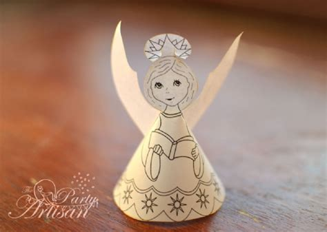 Pretty Paper Angels to Make – free – Grandmother Wren