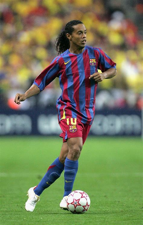 Ronaldinho of Barcelona in action during the UEFA