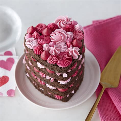 Tickled Pink Layered Heart Cake   Wilton